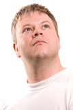 смотрящ человека вверх Стоковое Фото