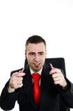 смущенный бизнесмен Стоковое Изображение RF