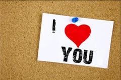 Смысл концепции влюбленности показа i воодушевленности титра текста сочинительства руки спасибо давая признательность оценивает н стоковое изображение