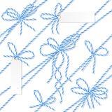 Смычки, ленты и ярлыки шпагата хлебопеков Стоковая Фотография RF