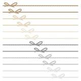 Смычки и ленты веревочки Стоковые Фото