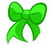Смычок зеленого цвета праздников стоковые фотографии rf