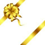 Смычок золота и вектор 2 ленты Стоковые Фото