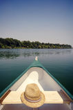 Смычок каное на реке Sava около Белграда, Сербии Стоковое Изображение