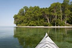 Каяк на озере Стоковое фото RF