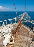 Смычок кораблей с морем позади Стоковая Фотография RF