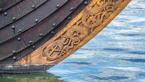 Смычок корабля Викинга Стоковые Изображения RF