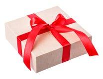 Смычок коробки красный Стоковая Фотография