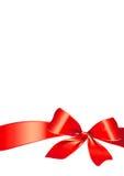 Смычок, красный цвет, предпосылка, рождество Стоковая Фотография RF
