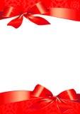 Смычок, красный цвет, предпосылка, рождество Стоковое Фото