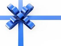 смычок подарка иллюстрации 3D голубой Стоковое Изображение