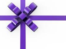 смычок подарка иллюстрации 3D фиолетовый Стоковая Фотография