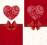 смычок предпосылки празднует сердце иллюстрация штока