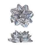 Смычок радуги голографический присутствующий серебряный Стоковые Фотографии RF