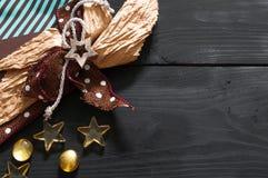 Смычок ремесла с деревянной звездой стоковые изображения rf