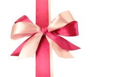 смычок сделал розовые тесемки Стоковое Фото