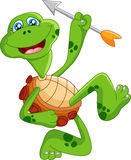 Смычок удерживания черепахи шаржа Стоковая Фотография RF