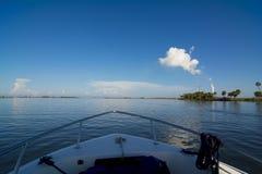Смычок шлюпки POV океана Стоковая Фотография RF