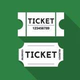 Снабжает иллюстрацию билетами Стоковые Изображения RF