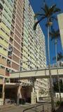 Снабжение жилищем радуги в Choi повиснуло имущество, Гонконг стоковые фотографии rf
