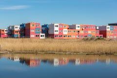 Снабжение жилищем студента в контейнерах в северном Амстердаме Стоковое фото RF