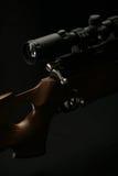 Снайперская винтовка с деревянной ручкой и объемом Стоковое Изображение