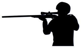 снайпер slihouette Стоковые Изображения RF