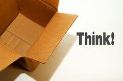 снаружи коробки думает Стоковые Изображения RF