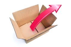 снаружи коробки думает Стоковое Изображение RF