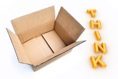 снаружи коробки думает Стоковая Фотография