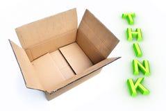 снаружи коробки думает Стоковая Фотография RF