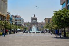 Снаружи Hospicio Cabañas стоковые фотографии rf