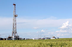 Снаряжение бурения нефтяных скважин Стоковое фото RF