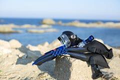 Снаряжение для подводного плавания Стоковое Фото