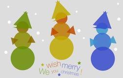 3 снеговика цвета Стоковое фото RF