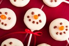Снеговики и шипучки торта северного оленя Стоковые Изображения