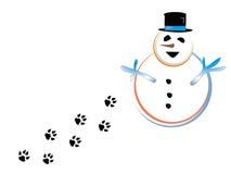 снеговики лапки Стоковые Фото