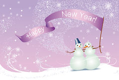 снеговики рождества карточки Стоковые Фотографии RF