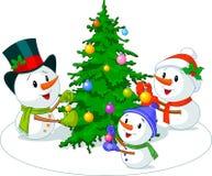 снеговики семьи