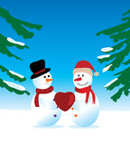 снеговики 2 иллюстрация вектора