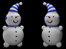 снеговики 2 Стоковые Фотографии RF