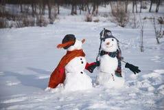 Снеговики Стоковое Изображение RF