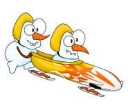 снеговики bobsleigh s Стоковая Фотография