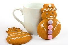 снеговики gingerbread стоковое изображение rf