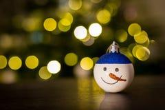 Снеговик безделушки рождества Стоковые Изображения RF