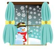 снеговик векториальный Стоковые Изображения