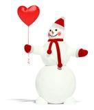снеговик воздушного шара Стоковые Фото