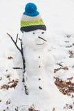 Снеговик в парке Стоковое Фото
