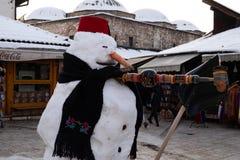 Снеговик в Сараеве стоковое фото