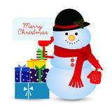 Снеговик в шляпе стоковая фотография